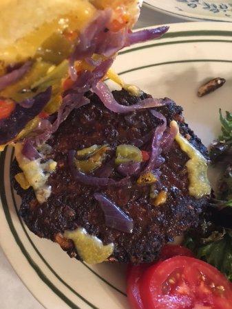 Penasco, NM: Inside of Black Bean Burger