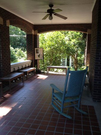 Jackson, MS: The side porch, Eudora Welty house; night-blooming cereus flowers here