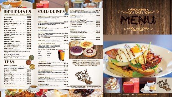 Spill The Beans Cafe Mandurah Menu