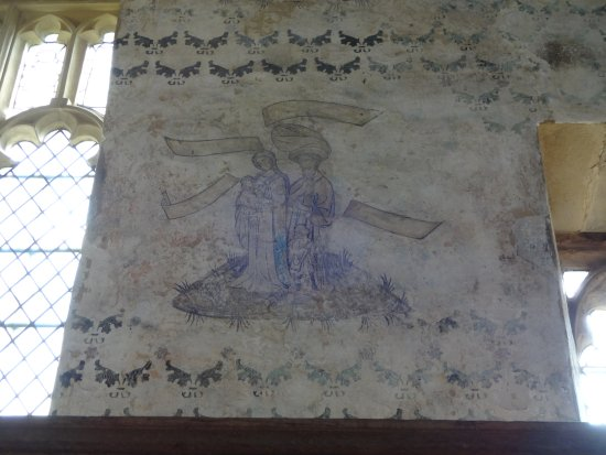 Haddon Hall: Wall painting in the Chapel