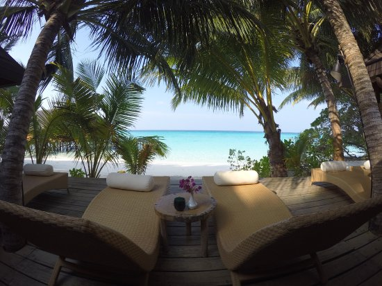 Kuramathi: View from the spa towards the ocean