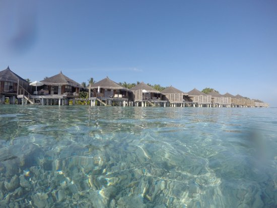 Kuramathi: Water Villas with Jacuzzi from the ocean side