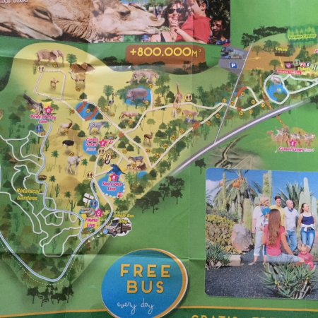 Map of Park Picture of Oasis Park Fuerteventura Fuerteventura