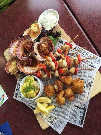 S:T Helens, Australien: scallops platter