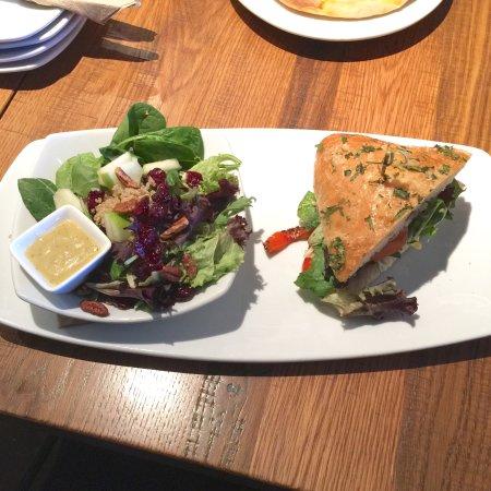 Lunch duo: super spinach quinoa salad+grilled veggie sandwich ...