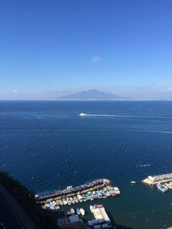 Hotel Bristol: Mount Vesuvius from our room