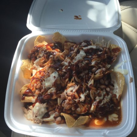 Cookeville, TN: Thursday special pulled pork nachos. Absolutely delicious and at $6.75 which includes a drink  a