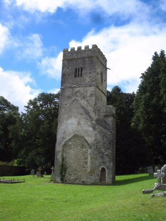 The Great Grubb Bed and Breakfast: Church tower at Dartington Hall