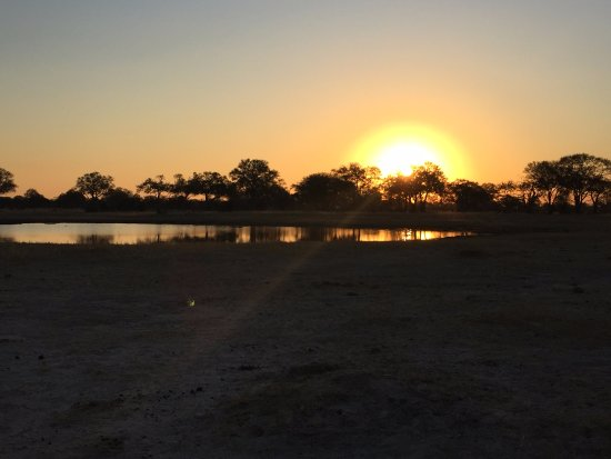 Hwange, Zimbabve: Happy hour in the bush.. Sundowners!
