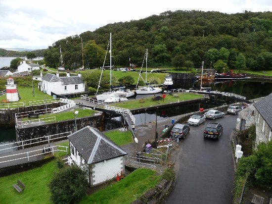 Crinan, UK: View over lock and canal