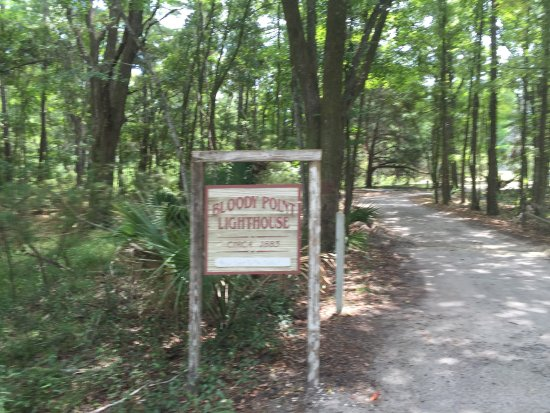 Daufuskie Island, Carolina Selatan: Sign at Entrance to Lighthouse
