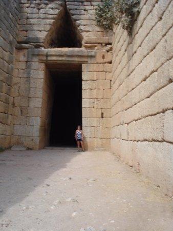 Mycenae, Grecia: Tholo tomb entrance
