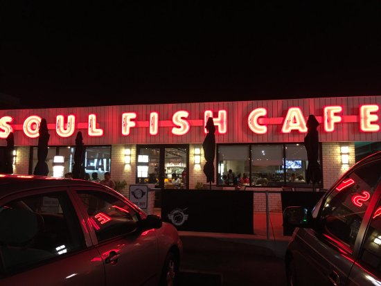 Soul Fish Cafe - Poplar Avenue: Front of restaurant. But you enter at the side.