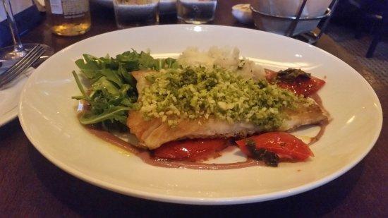 Glastonbury, CT: Pesto crusted cod