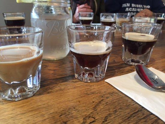 โอจาอิ, แคลิฟอร์เนีย: Draft coffee tasting