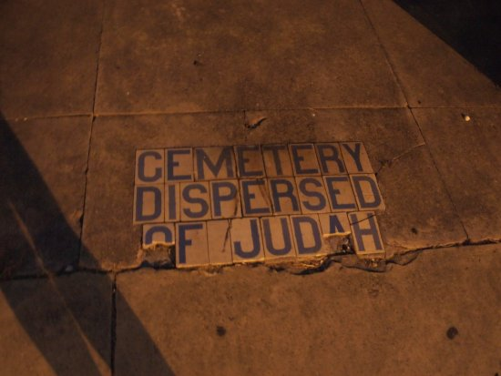 Bloody Mary's  Tours: Jewish Cemetery sidewalk from Bloody Mary's ghost tour