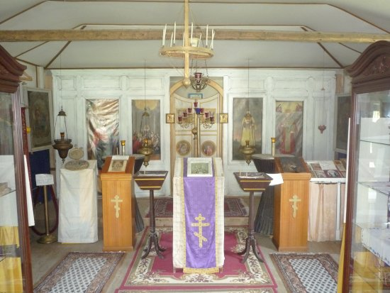 Chugiak, AK: Inside Old Saint Nicolas Church
