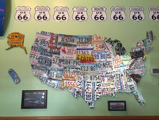 License Plate State Map.Cool Us Map With Each State Having A Piece Of Their License Plate
