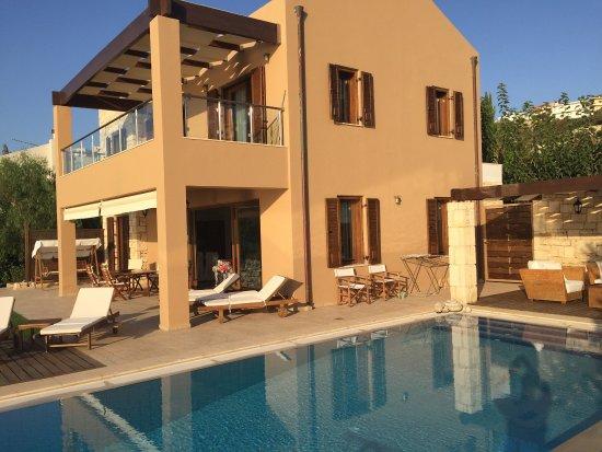 SK Place Crete Luxury Seafront Villas: Fabulous view and villa