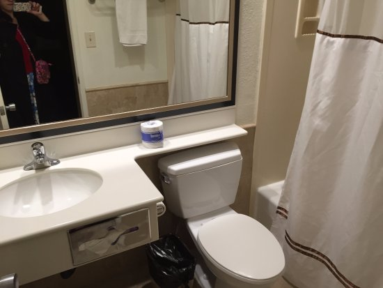 Anaheim Islander Inn and Suites: Regular bathroom from December 2015