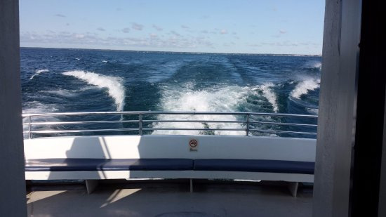 Alpena, MI: View from back of boat