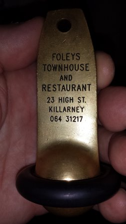 Foley's Townhouse and Restaurant: Room Key
