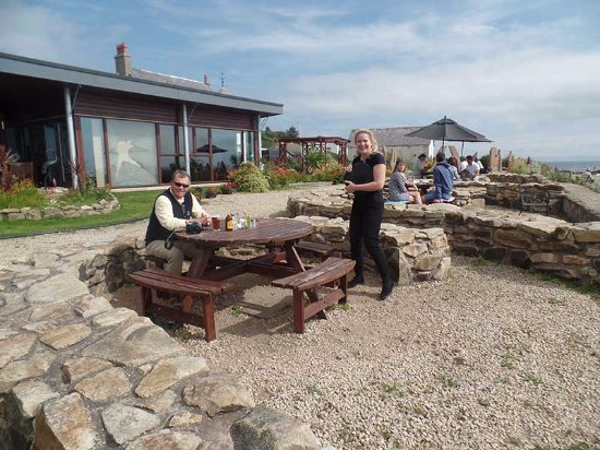 Kildonan, UK: This young lady was the only friendly and sociable server among the staff we met