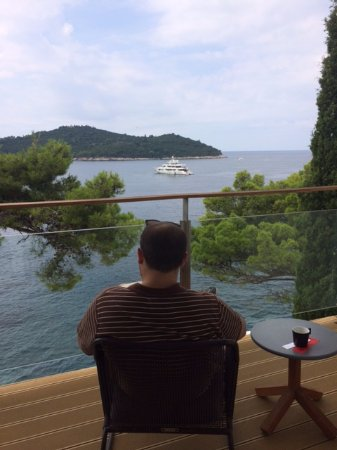 Villa Dubrovnik: Relaxing on our balcony
