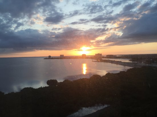 Grand Hyatt Tampa Bay: Sunset view of Bay from West side of Hotel