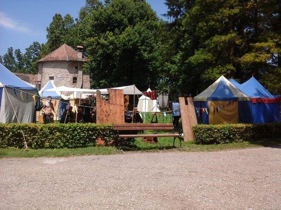 Sisak, Kroatien: Medieval festival, June 2014