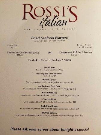 New Hampton, NH : Rossi's Italian Ristorante