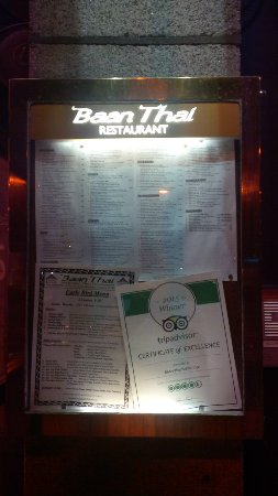 Baan Thai Ballsbridge: The menu