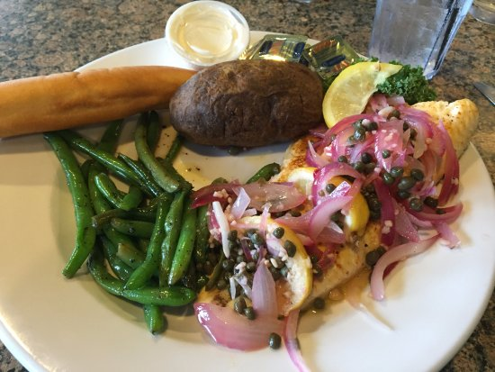 pier plaza restaurant pickled herring lounge grilled trout w pickled onions capers