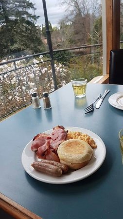 Waldorf Leura Gardens Resort: Buffet breakfast over looking garden