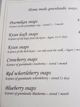 Kangerlussuaq, Groenlandia: Try the various schnapps