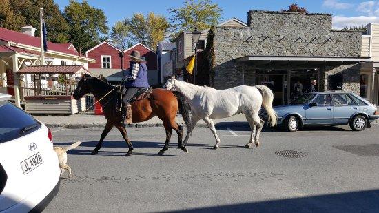 Arrowtown, Nueva Zelanda: 看到有人騎馬