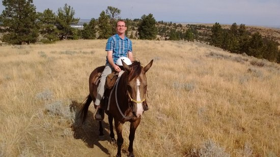 Bitter Creek Outfitters: me on my horse