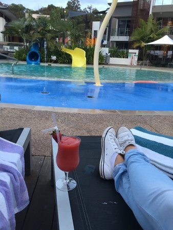 """RACV Noosa Resort: Cocktails by the pool when the weather was too cold for """"grown ups"""" to go in!"""