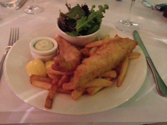 Zinc Port Douglas: Mackerel and chips, very nice.