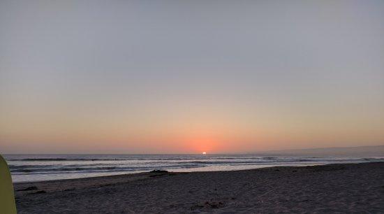 Aptos, Califórnia: Sunset at La Selva beach.