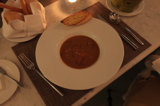 Devasom Hua Hin Resort: Lobster bisque.
