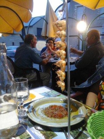 Rieupeyroux, Frankrijk: pendu de gambas
