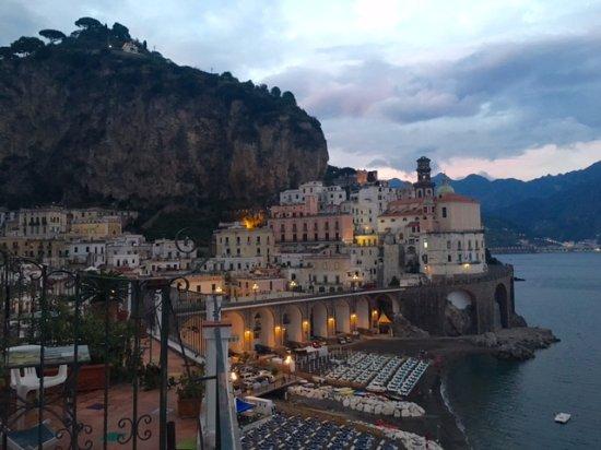La Scogliera: View from room toward sAtrani