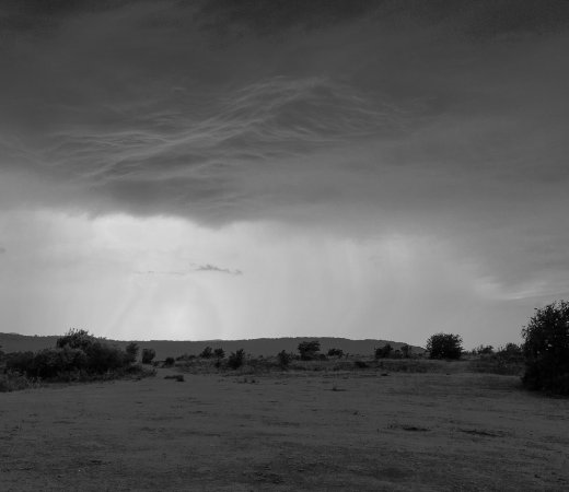 Birdlip, UK: Crickley Hill Country Park, Glous, storm passing