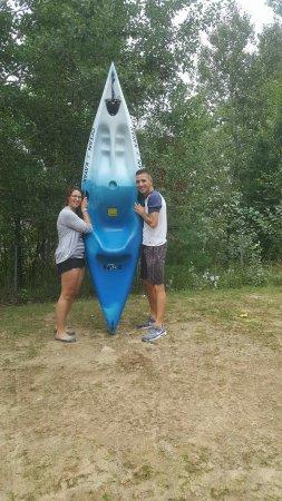 La Conception, Kanada: Super belle journée ...merci à Pause pleine air pour le magnifique Kayak que nous avons gagner m