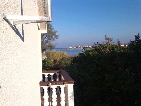 Povljana, Kroatien: výhled z balkonu