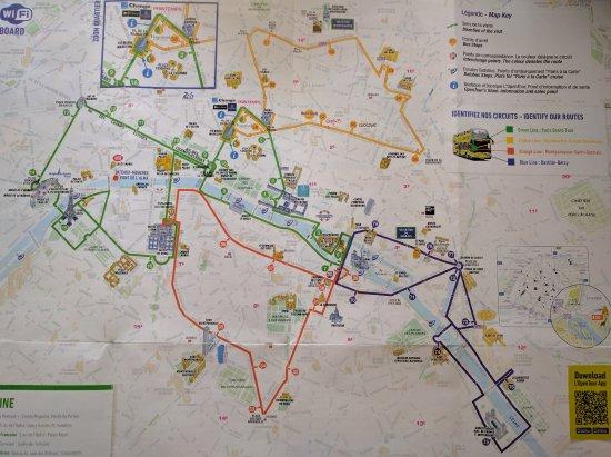 Lopen Tour Paris Map.Tour Map Foto Van Open Tour Paris Parijs Tripadvisor