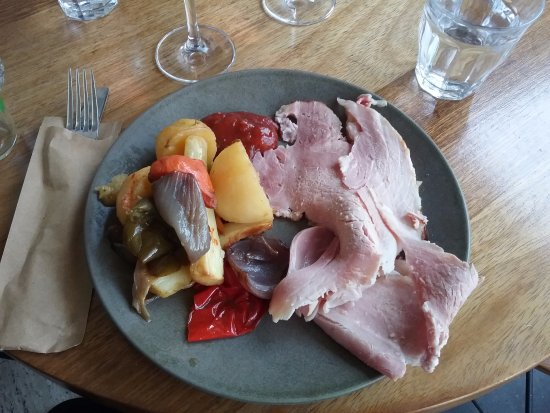 The Restaurant at the Art Gallery of NSW: Ham Roast with vegetables.