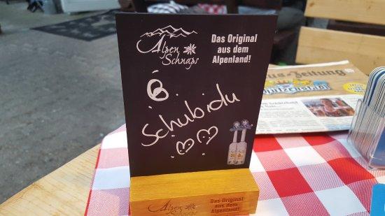 Mosbach, Duitsland: sehr nettes Reservierungsschild