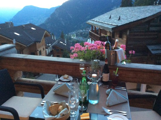 The Lodge Verbier : Private dinner with beautiful view